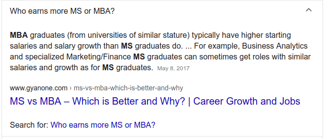 Google FAQs MBA candidates are looking for