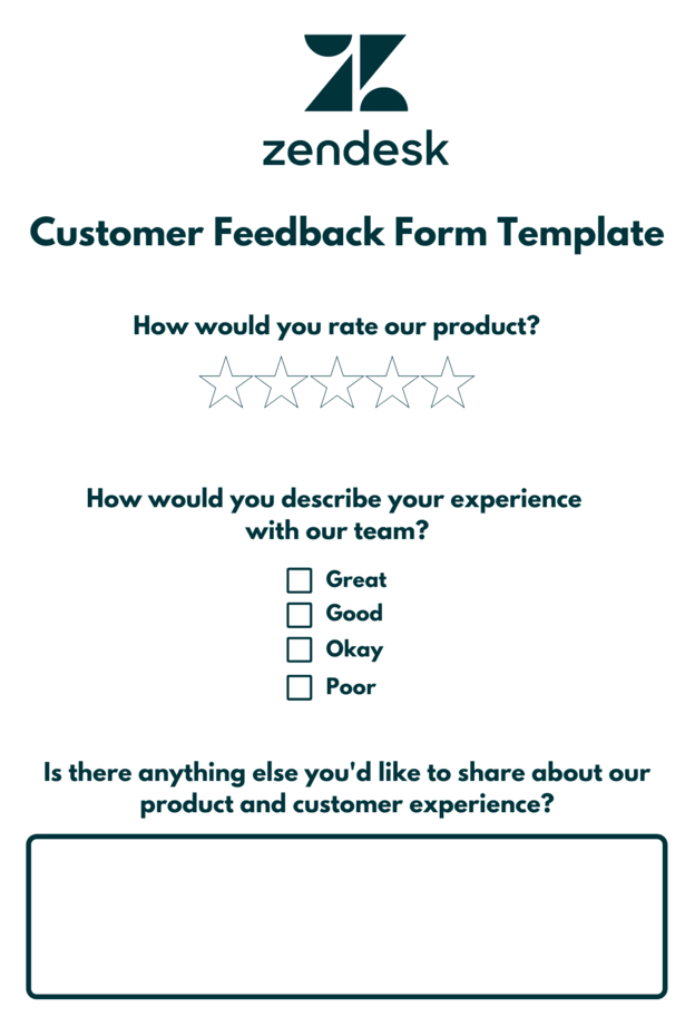 Customer feedback form for digital reputation