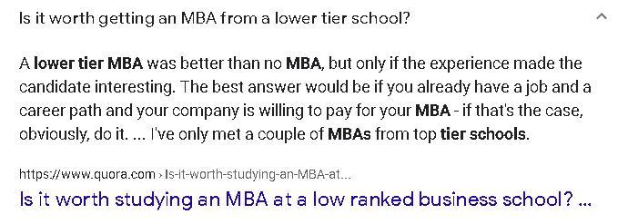 Questions MBA candidates are asking on search engines