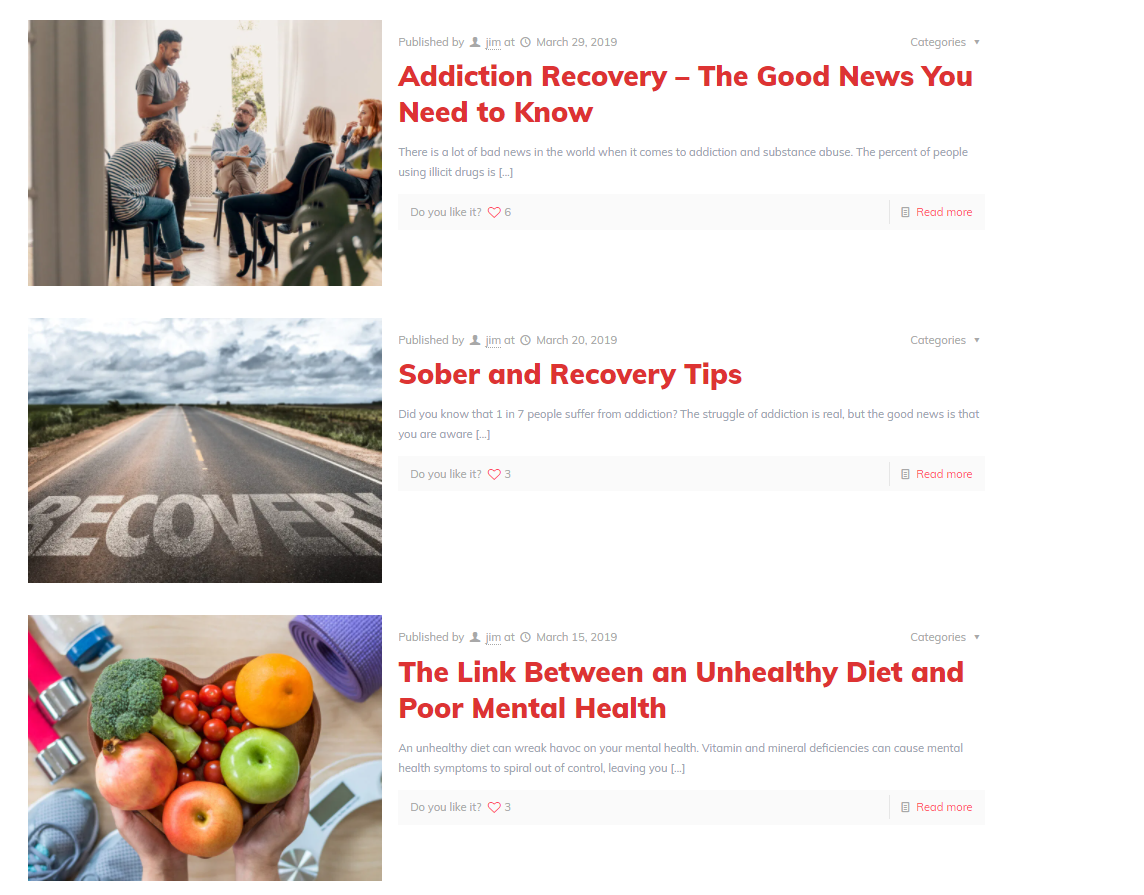 addiction blog articles for SEO strategy