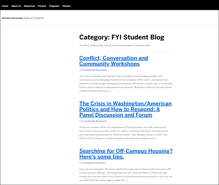 Blog Content for Higher Ed