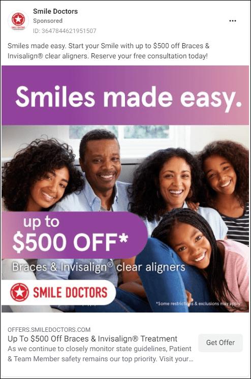 Copywriting for dental Facebook Ads