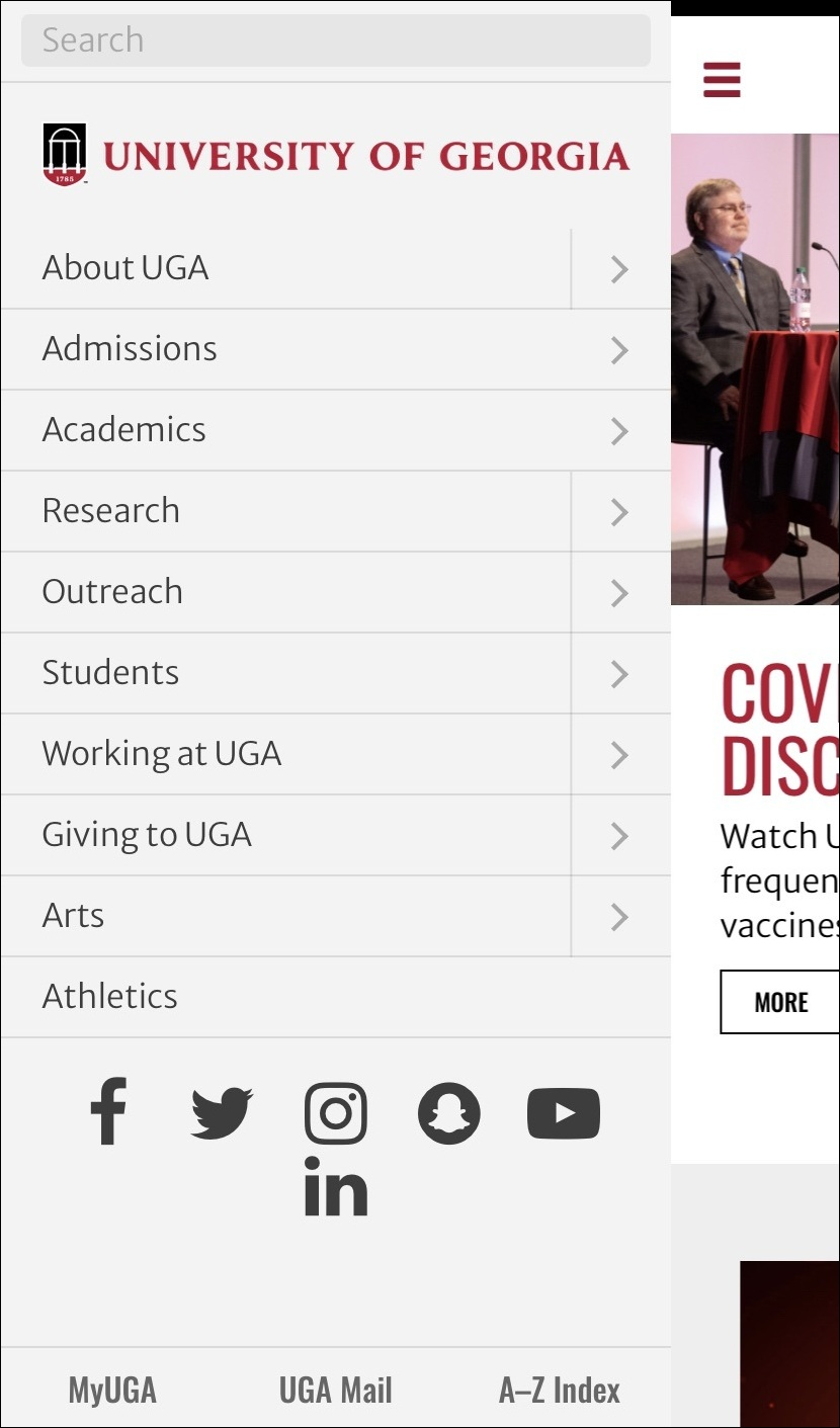 Mobile-Friendly Higher Ed Website