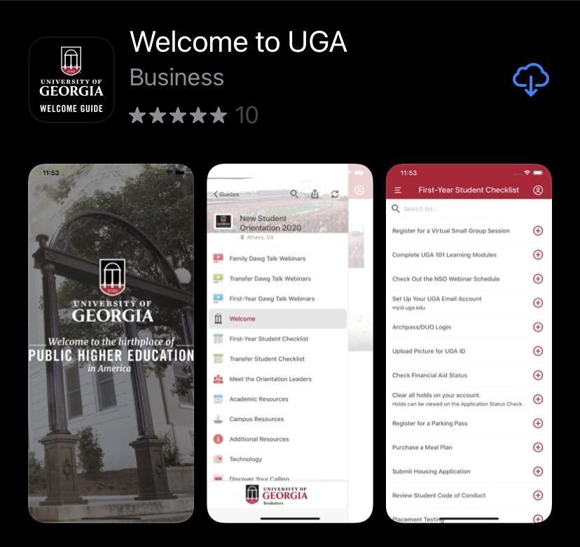 UGA Welcome Guide App