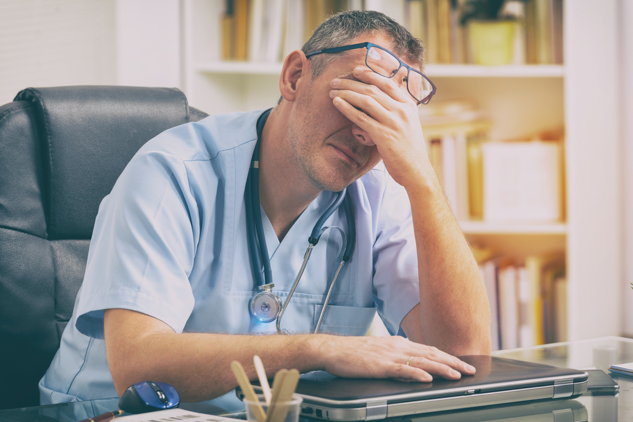 frustrated doctor