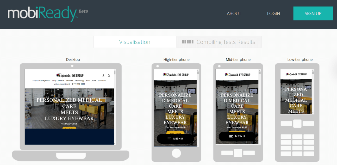 Test your website on different devices