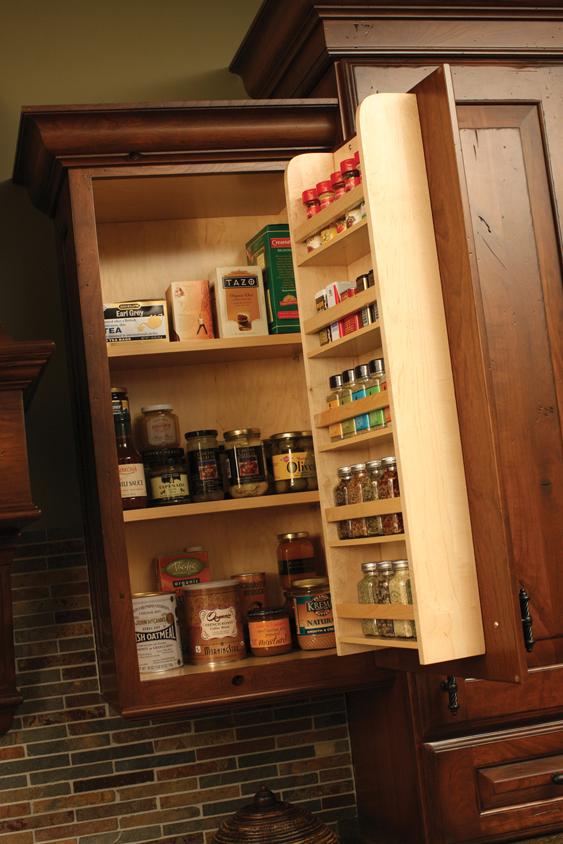 kitchen spice rack sink black granite cardinal kitchens baths storage solutions 101 accessories