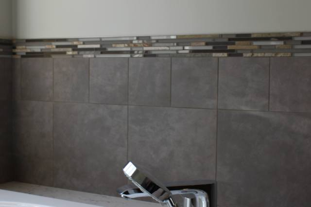 soaking tub, remodeled bathroom, ceramic tile