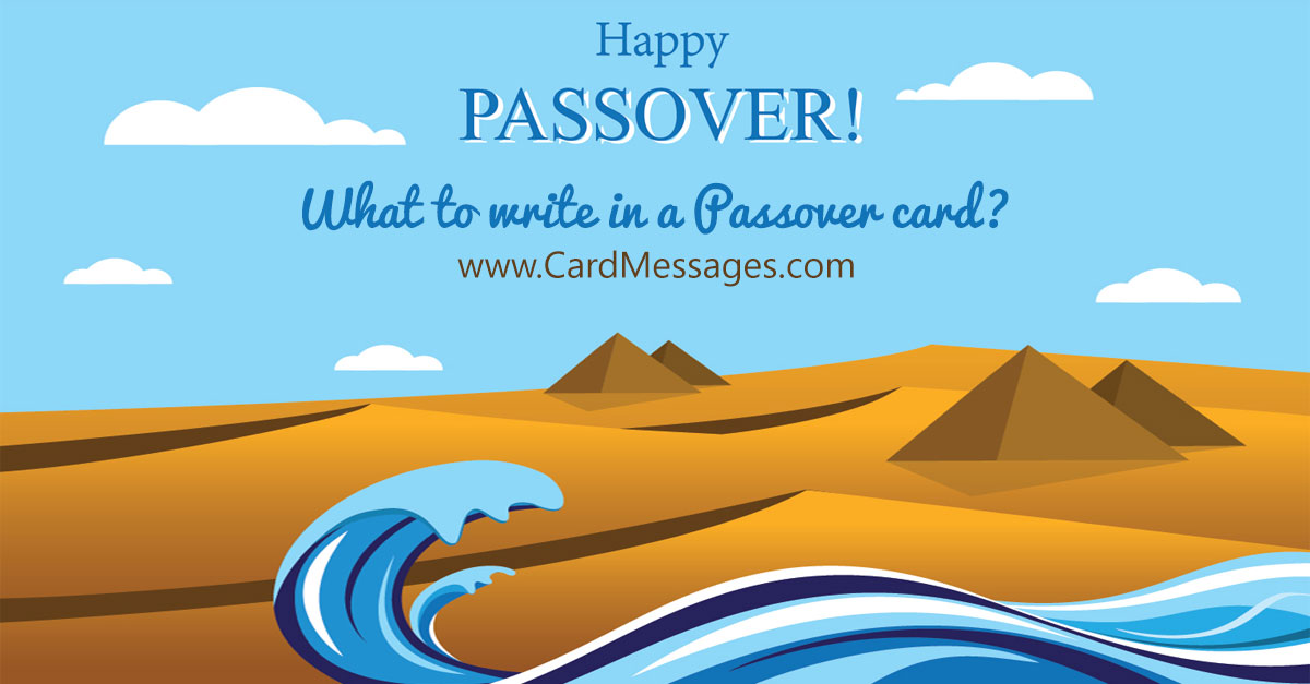 What To Write In A Passover Card? Card Messages