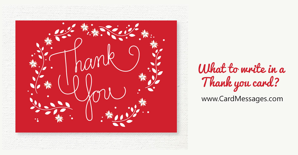 What To Write In A Thank You Card Or Note Card Messages