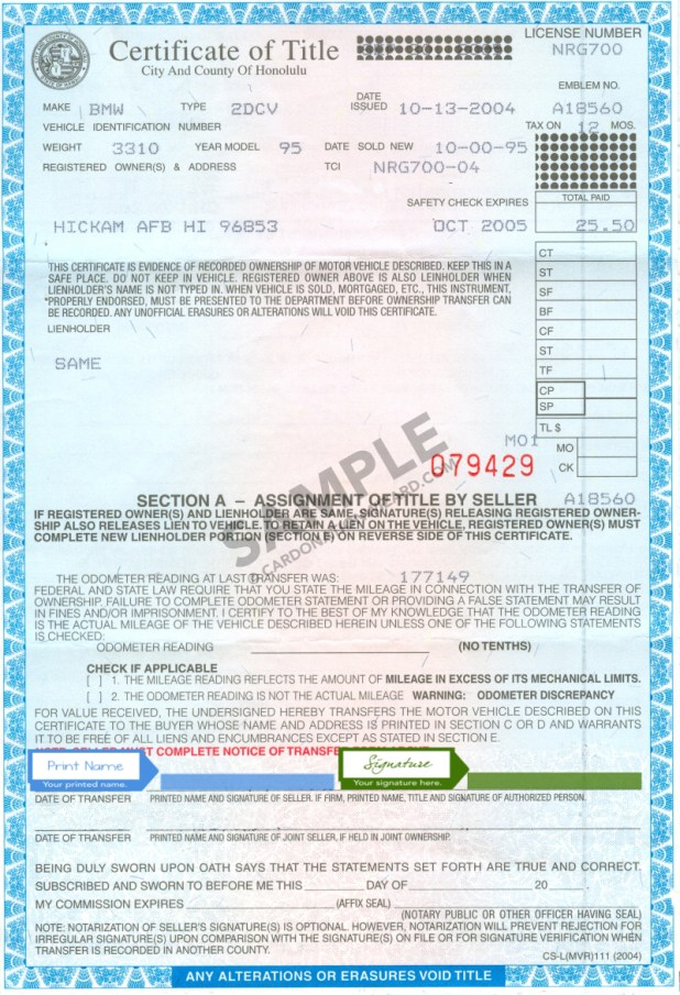Hawaii Motor Vehicle Registration Automotivegarage Org