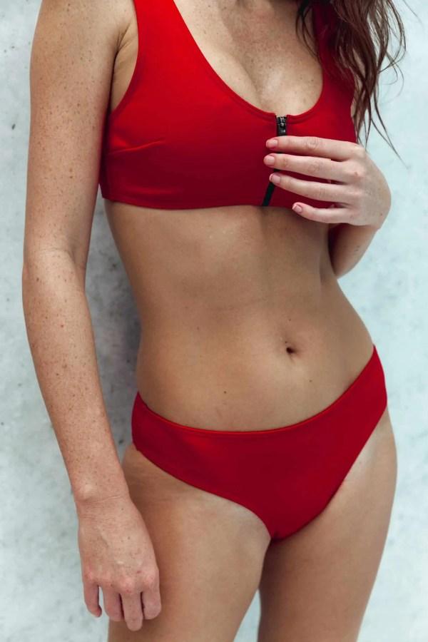 Maillot de bain CARDOMINI rouge CARDO Paris piscine swimwear joli élégant confortable français