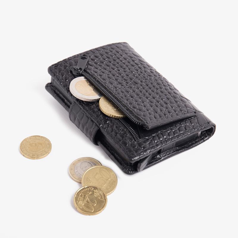 Figuretta - Croco Zwart Leder