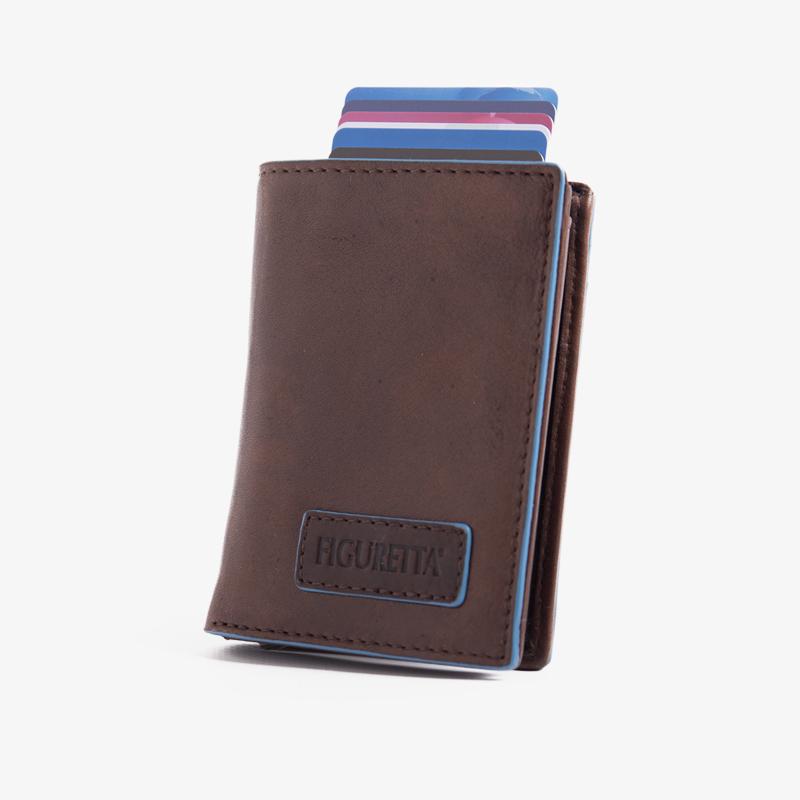 Figuretta - Blue Line Bruin Leder