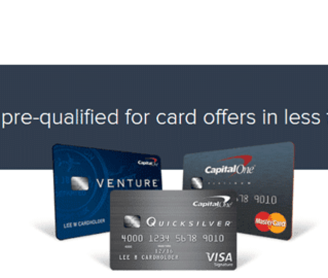 Screenshot Of Capital One Pre Qualify Questionnaire