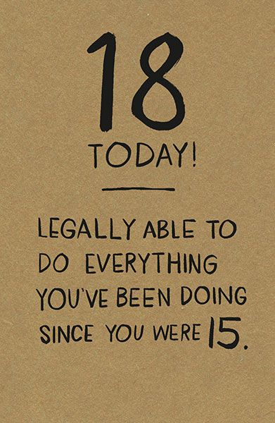18 Today & Legal Birthday Card