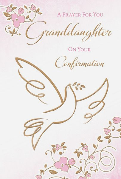 Granddaughter Confirmation Card
