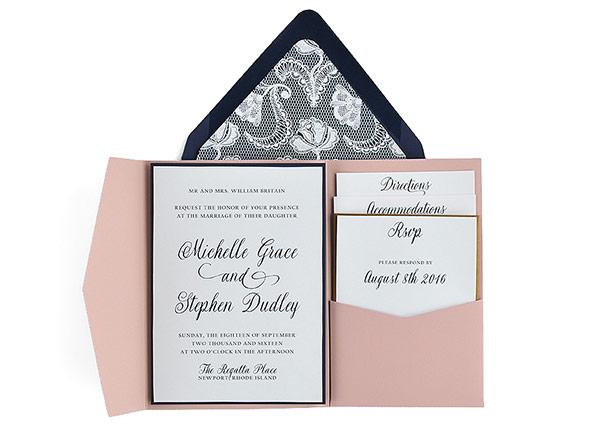lace free wedding invitation