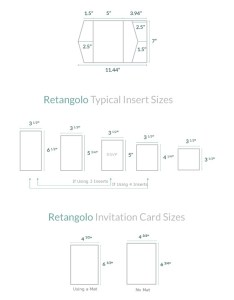 Products that fit this card size also invitation guide retangolo pocket cards  pockets rh cardsandpockets