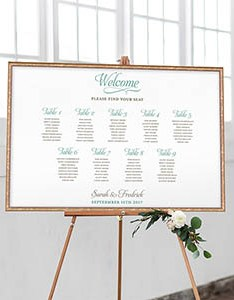 Simple elegant guest seating chart also posters rh cardsandpockets
