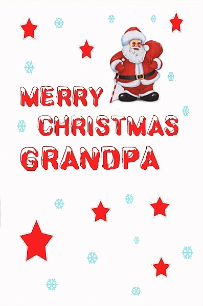 Male Relation Christmas Cards Merry Christmas Grandpa