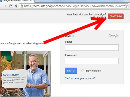 Google Adwords Sign in