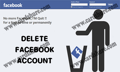 Delete Facebook Account - Deactivate your Facebook Account | Delete your Facebook Account