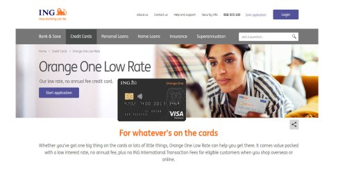 ING Orange One Credit Card