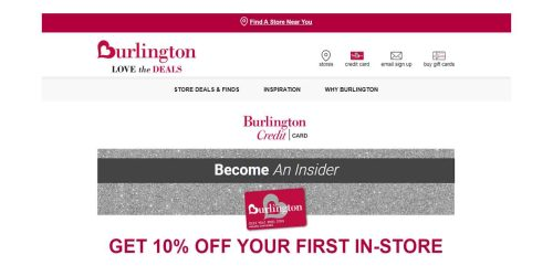 Does Burlington Coat Factory Have a Credit Card?