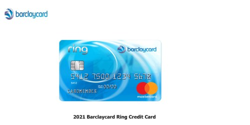 2021 Barclaycard Ring Credit Card