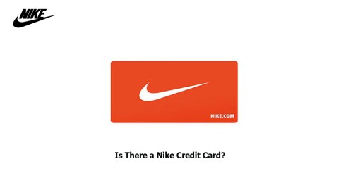 Is There a Nike Credit Card?