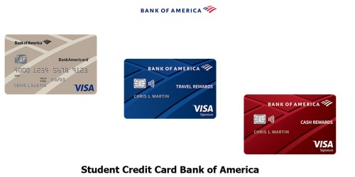 Student Credit Card Bank of America