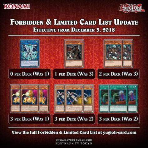 yu-gi-oh!] forbidden & limited list – december 2018 | cards on the table