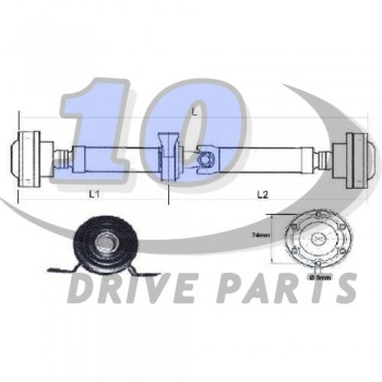 DRIVE SHAFT FIAT PANDA 4X4 CV 1728 mm