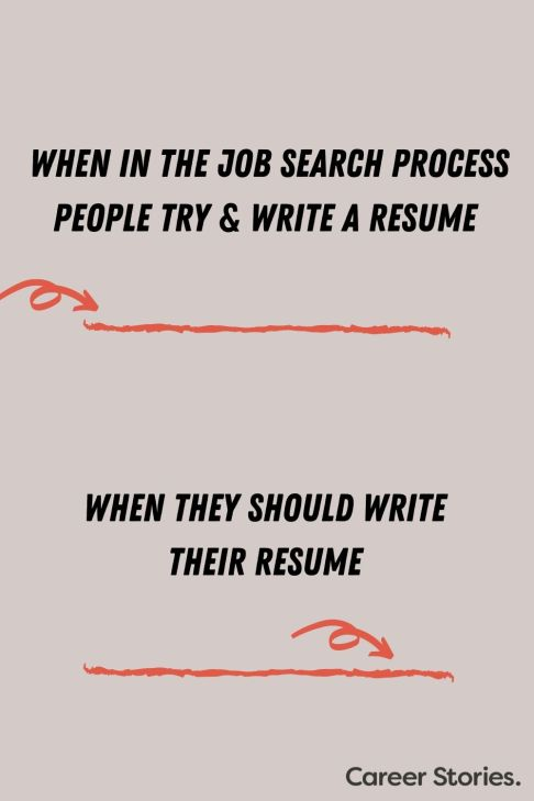when to write a resume career change