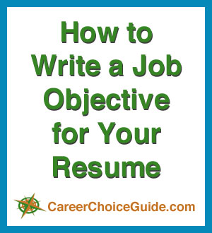 Resume Job Objectives Writing Tips And Samples