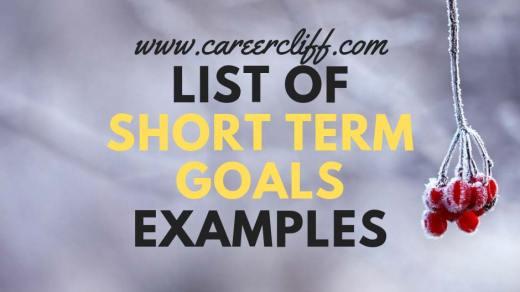 list short term goals examples what are short term goals