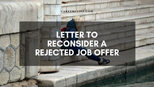 letter to reconsider a rejected job offer