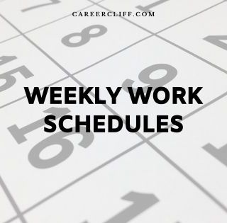 4 day work week schedule