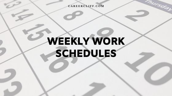 Make Weekly Work Schedules for 30 Employees