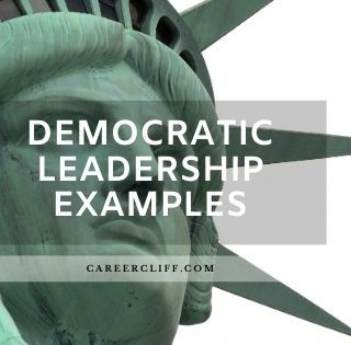 democratic leadership style examples