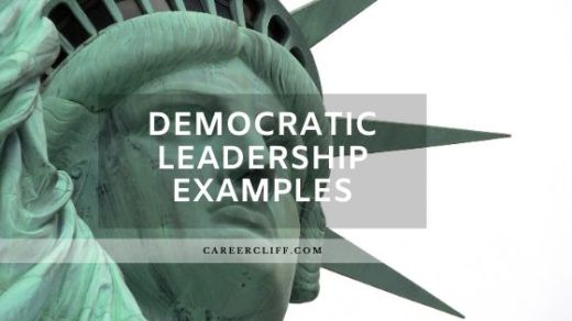 democratic leadership style examples