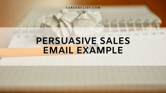 Persuasive Sales Email Example for Lead Generation
