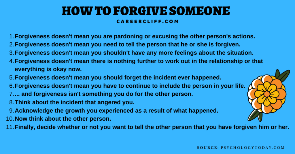 how to forgive someone