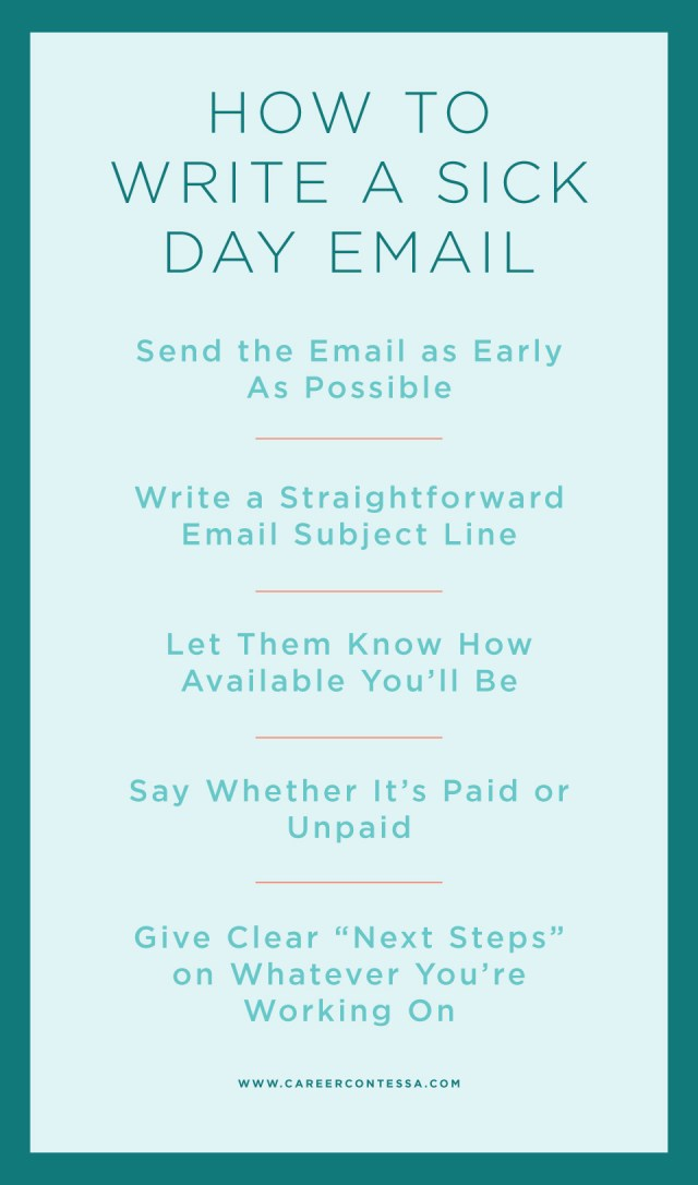 How to Write a Sick Day Email (+ a Template)  Career Contessa