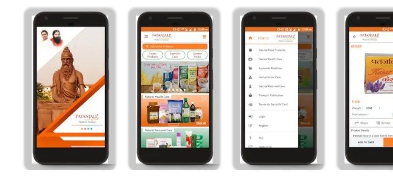 Features of Patanjali OrderMe App