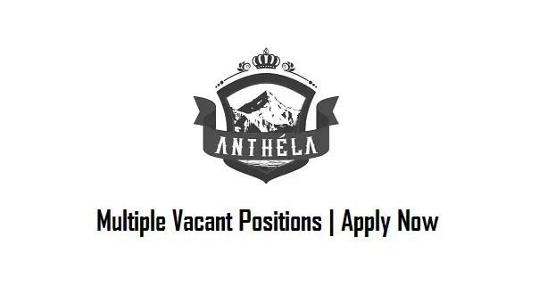 Anthela Foods Jobs April 2017