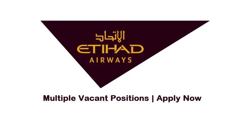 Etihad Airways Jobs Aug 2017
