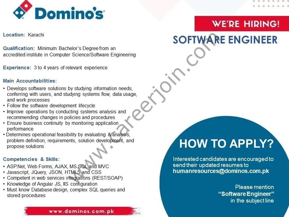 Domino's Pizza Jobs Software Engineer 2021