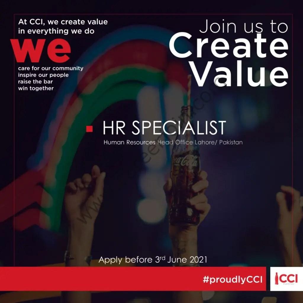 Coca Cola Icecek Pakistan Jobs HR Specialist 2021